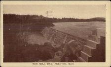 Fisherville MA The Mill Dam c1910 Postcard