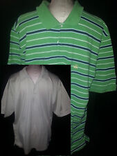 Lot 2 Mens Brooks Brothers Polo Rugby Shirts Short Sleeve XL Beige Green Black