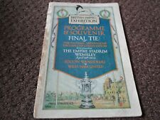 More details for f.a.cup final 1923 bolton wanderers  v  west ham united ***genuine original***