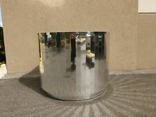 HUGE MID CENTURY 70'S FACETED CHROMED STEEL TABLE BASE MANOR OF PACE - P
