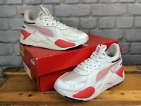 PUMA LADIES UK 4 EUR 37 RS X WHITE RED RUNNING TRAINERS  LG