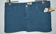 Ezekiel Girl, Skirt, Melbourne, Size 11, Blue, Striped, 5 Pocket, Belt Loops