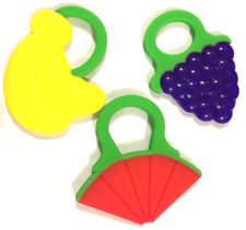 Wimmzi Tutti Frutti Teether Toys - Banana, Grape and Watermelon - FDA Approved