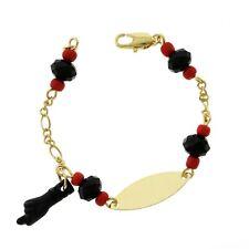 "Azabache bracelet 6"" Id 18k Layered real gold filled"