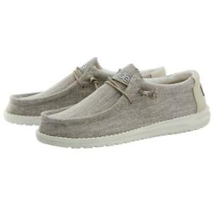 Hey Dude Wally Woven Shoes Slip-On Loafer Beige 110390500 - New 2021