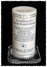 """Large 8"""" Personalised Wedding Day Absence candle Those who cannot be there #1"""