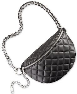 Steve Madden Quilted Faux Leather Fanny Pack - Black