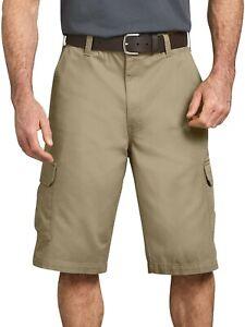 "Dickies Men's 13"" Loose Fit Cargo Shorts, Khaki, Size 36"