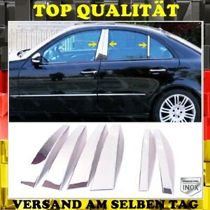 Chrome B-PILLAR TRIM 6 PCS Stainless Steel Mercedes C-Class W203 Sedan 2000-2007