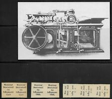 More details for ireland provisional government overprint proofs + picture of printing press.