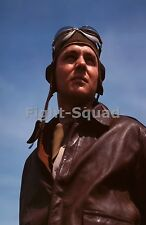 WW2 Picture Photo May 1942 Portrait of an American YB-17 bomber pilot 1383