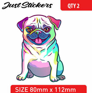 PUG DOG sticker car sticker , bumper sticker , skate , bike, laptop,