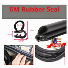 Rubber U Channel Edging Trim Seal 21mm x 15mm BLACK US ! Metal House 6M
