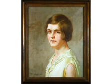Arthur Bentley Connor - 'Female Half Portrait' - Oil Painting, 1934, Framed