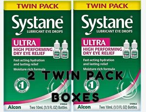Systane ULTRA High Performance Lubricant Eye Drops Exp 2022 (2 Twin Pack Boxes)