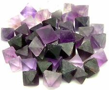 1 lb PURPLE Fluorite Octahedron Crystals - LARGE - Bulk Lot - FLUROCTPRPLLG1LB