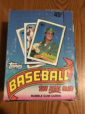 1989 Topps Baseball Cards Box 36 packs