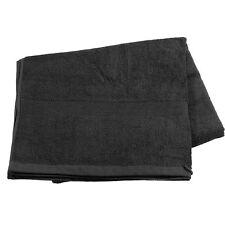 Saunahandtuch: Saunatuch aus Baumwoll-Frottee 220 x 90 cm, schwarz