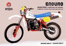 1979 Montese Enduro 360H7 Motorcycle Ad Poster 13 x 19 Giclee print