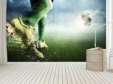 Soccer Goal  Photo Wallpaper Wall Mural DECOR Paper Poster Free Paste