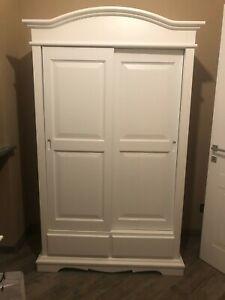 Closet 2 Doors Sliding Doors White Matt CMS 122X59X200H