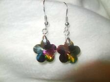 Colorized Crystal flowers w stering silver wire (ready 4 spring special new $ )