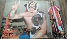 Super Rare! BBM Poster Tiger Mask Very Populer in Japan !NJPW NWA  FeeShipping!