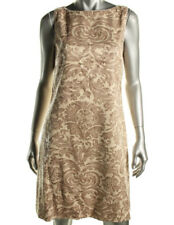 NEW Womens Stunning Lauren Ralph Lauren Beige Sequined Mesh Party Dress AU12