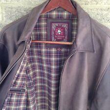Mens Medium THE TERRITORY AHEAD Lined Leather Jacket /h