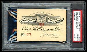 1959 American League Season Pass PSA & Wallet Valid All Events Mantle Al Kaline
