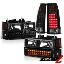 Black Rear LED Tail Light Front Signal Parking Corner Headlight Headlamp Tahoe