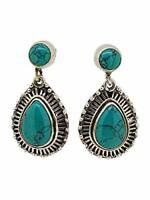 Stunning Natural Turquoise Earrings for Women Made with 925 Sterling Silver