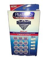 Plus White Teeth Polisher Refill 3 Month 12 cups 4 Heads Diamond Bright Polish