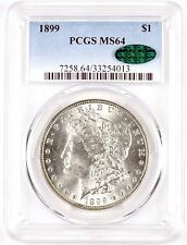 Official PCGS Graded MS 64 1899 $1 United States Morgan Silver Dollar Coin - CAC