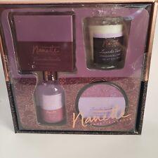 Nanette Lepore Lavender Vanilla Luxury Spa Set body cream &wash bath salt candle