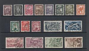 Saarland Michel-Nr. 272-288 gestempelt