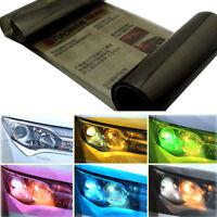 30 x 120cm Light Black Headlight Tint Tail Light Fog Lamp Vinyl Smoke Film Sheet