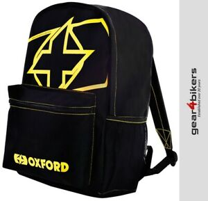 Oxford X-RIDER Yellow Motorcycle Back Pack Rucksack Scooter Backpack Bag