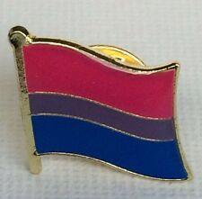 Bisexual Pride Flag Lapel Pin / Badge - LGBT Equality Bi Bisex - Brand New