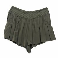 American Eagle Womens Eyelet Waist Soft Shorts Olive Green Size Small