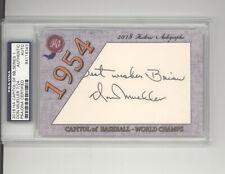 Don Mueller auto card 7/24 2018 Historic Autograph Capitol 1954 New York Giants