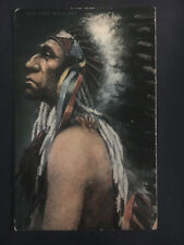 Mint Postcard Native American Indian Chief Black Bird