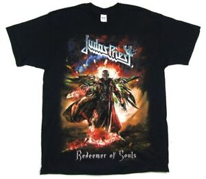 Judas Priest Redeemer Of Souls Full Color World Tour Black T Shirt New Official