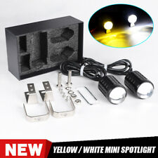 2X LED Dual Color Yellow White Motorcycle Spotlight Driving Fog Head Light Lamp(Fits: Ducati GT)
