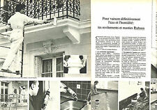 PUBLICITE ADVERTISING 114  1976  RUBSON   matériaux  revetemets & mastics ( 2p)