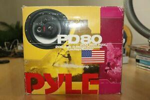 Pyle PD 80 Paar Lautsprecher Koaxial System 3 Wege 200 Watt NEU OVP