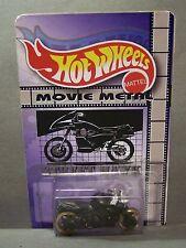 """Custom HotWheels MOTORCYCLE and package of  """"Movie Metal""""  from STREET HAWK"""
