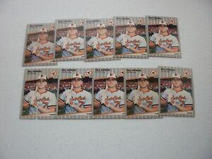 LOT OF  10 - 1989 FLEER BILLY RIPKEN  CARDS
