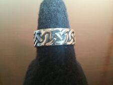 Ericks Sterling Silver Celtic Knots Ring Taxco.925