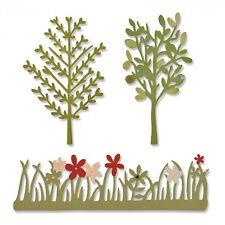 Sizzix Thinlits Die Taglio Stencil Goffratura 3pk Giardino Verde 661375